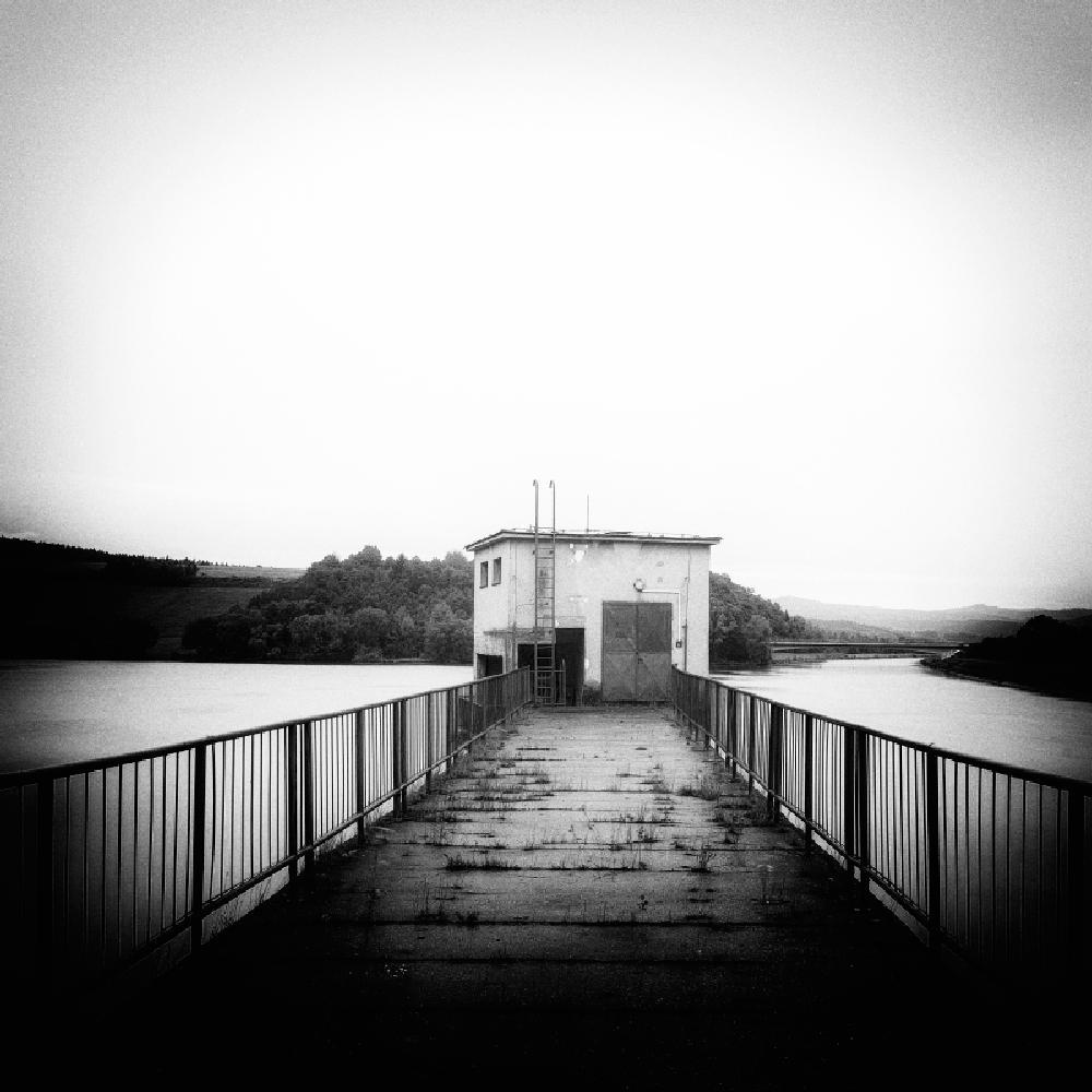 Photo in Black and White #black and white #monochrome #landscape #waterscape #nature