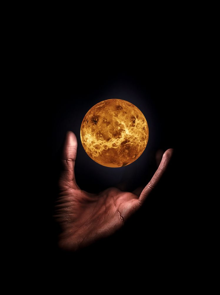Photo in Astrophotography #planet #hand #planet in hand #mercury #concept
