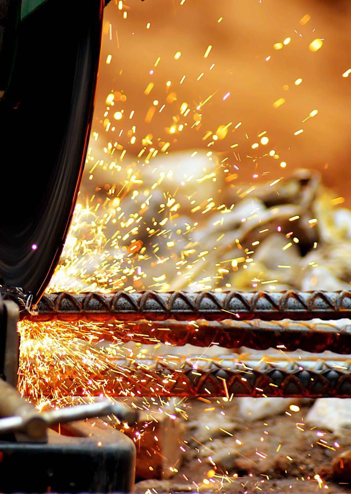 Photo in Abstract #iron #cutting #flares