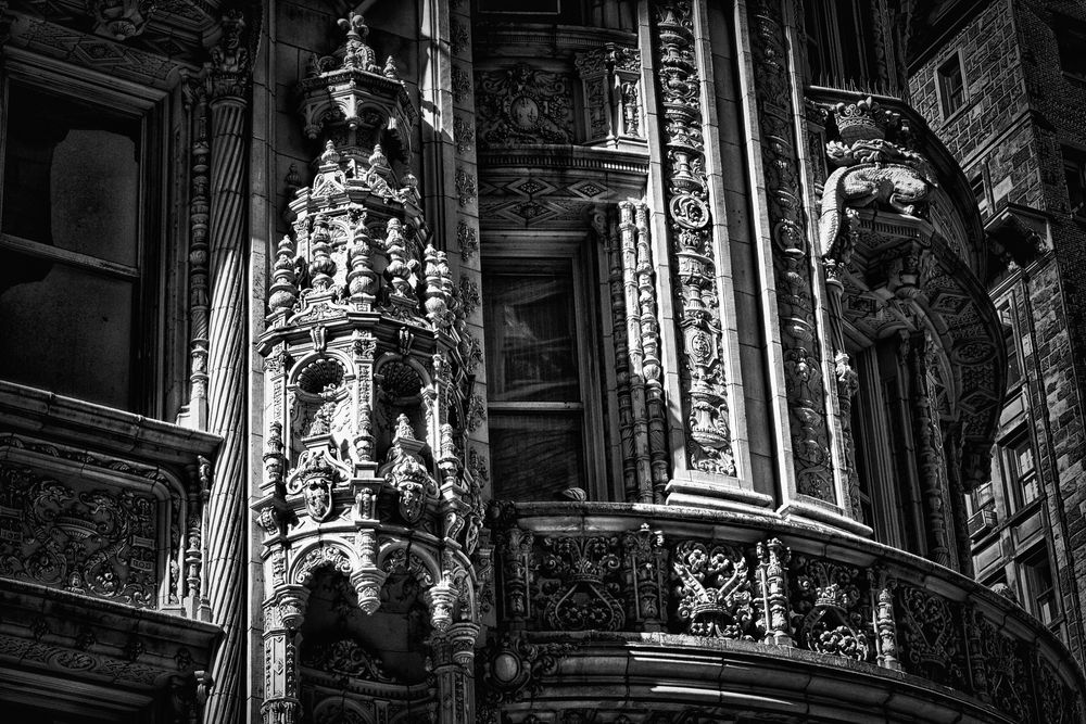 Photo in Architecture #alwyn court #terracotta #landmark #architecture #french renaissance #francis i #crowned salamanders #alwyn bell #harde & short #hedden construction company #architectural details #midtown manhattan #manhattan #ny #nyc #new york #new york city #us #usa #united states #america #hdr #b&w hdr #monochrome hdr #monochrome #bnw #b&w #black & white #black and white #sunlit #lit in patches #putches of sunlight