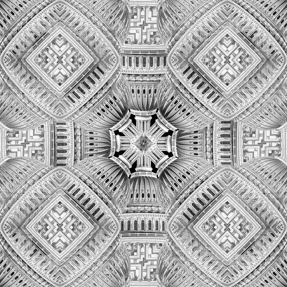 Photo in Black and White #creative #architectural pattern #architectural details #seamless pattern #us capitol #us capitol building #us capitol dome #washington #washington dc #dc #capitol hill #night #architecture at night #photoshop #bnw #b&w #black & white #black and white #monochrome #square composition #landmark #travel destination #us #usa #united states #america