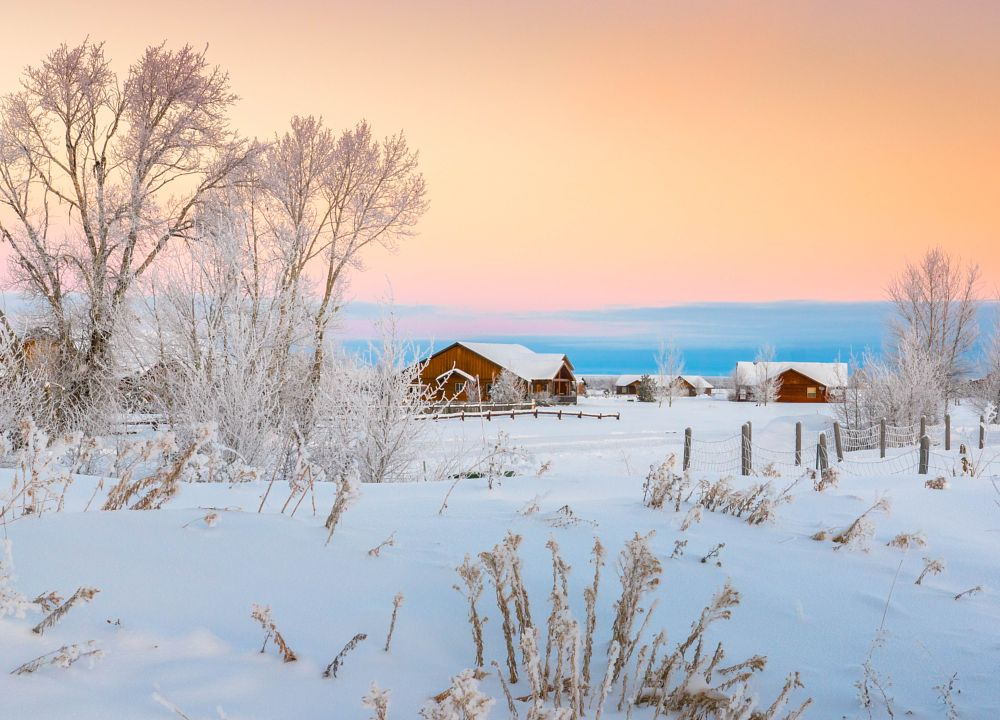 Photo in Landscape #snow #winter #morning #morning sun #sunrise