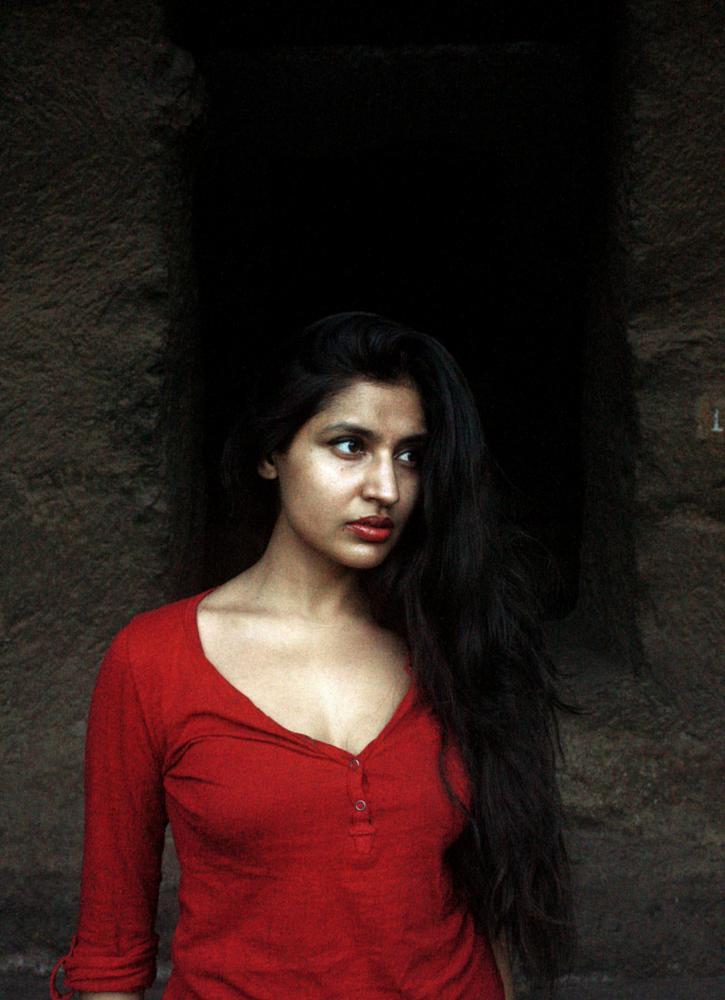 Photo in People #people #portrait #landscape #nature #red colour #india #kanheri caves #sumedha mahajan