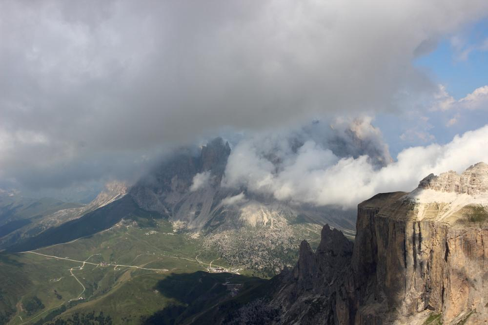 Photo in Landscape #dolomiti #sass pordoi #nature #canazei #mountain #italy #fassa #3000 #vista mozzafiato