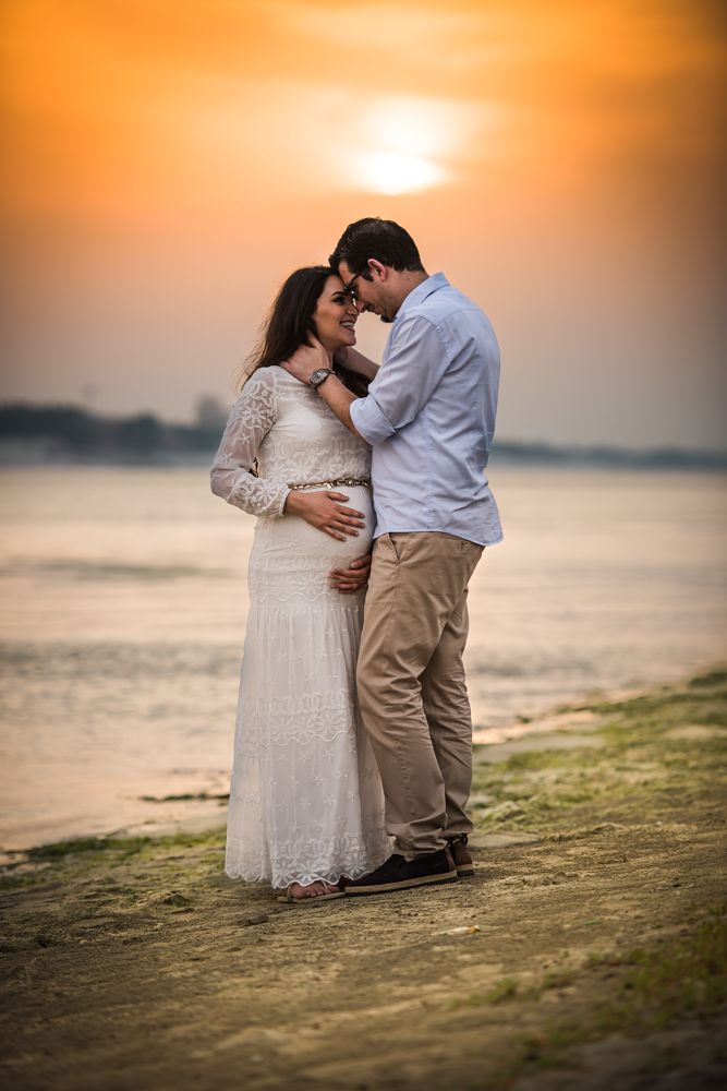 Photo in Family #family #sunset #portrait #beach #beautiful #couple #pregancy #pregnant #colors