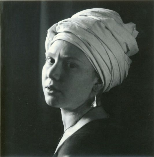 Photo in Black and White #sarah #vermeer #portrait #black and white