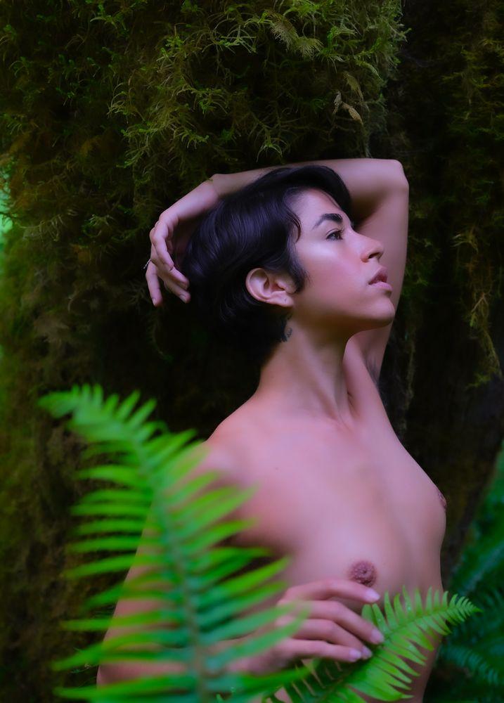 Photo in Nude with model Eva Luna #rain forest #nude #model #nature #portrait