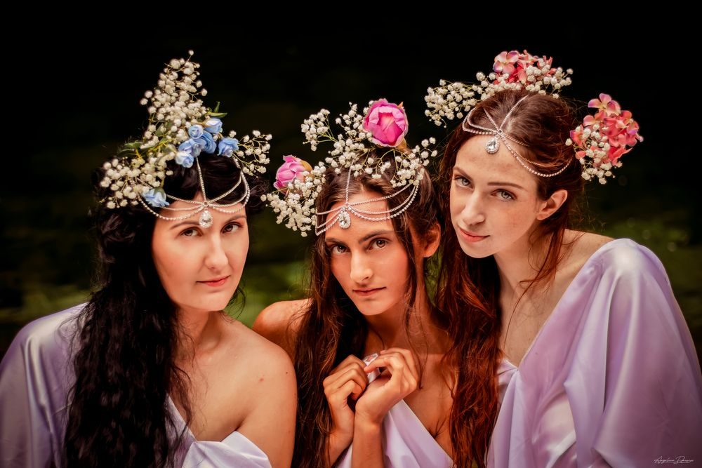 Photo in Portrait #fineart #portrait #fairy #flower #magic #river #longhair