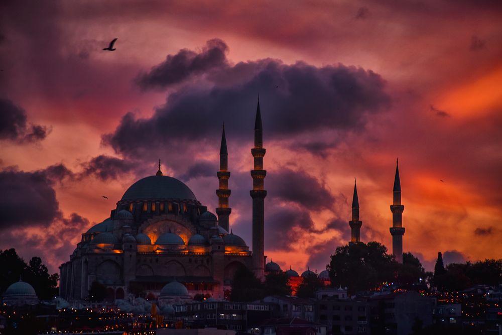 Photo in Fine Art #sunset of faith #istanbul #turky #islamic