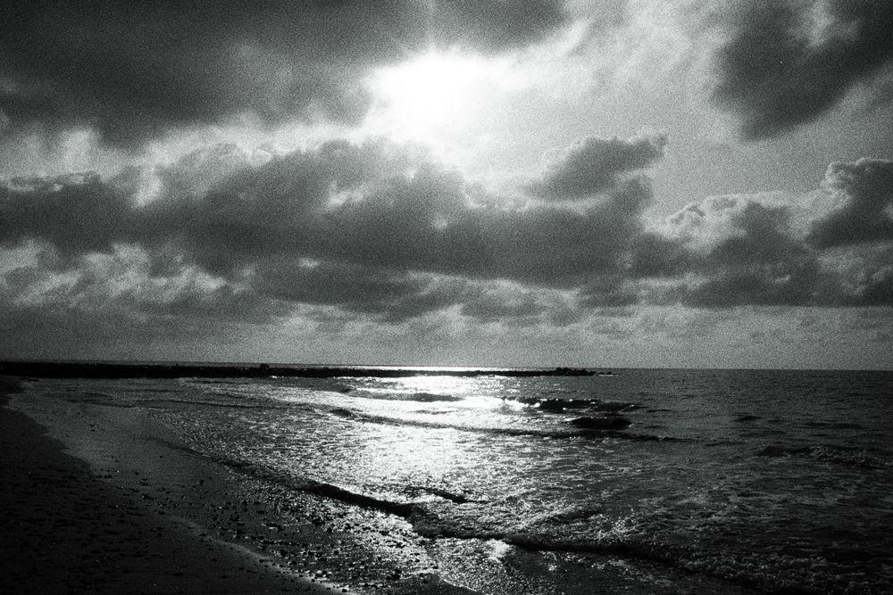 Photo in Sea and Sand #film #blackandwhite