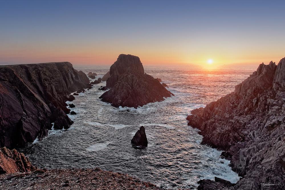 Photo in Landscape #malin head #malin #head #irlande #ireland #north #ocean #sunset #coucher #soleil #sun #coast #côte #atlantique #atlantic #océan #wave #water #olympus #em5 #12-40 #rocks #cliffs #falaises #rochers