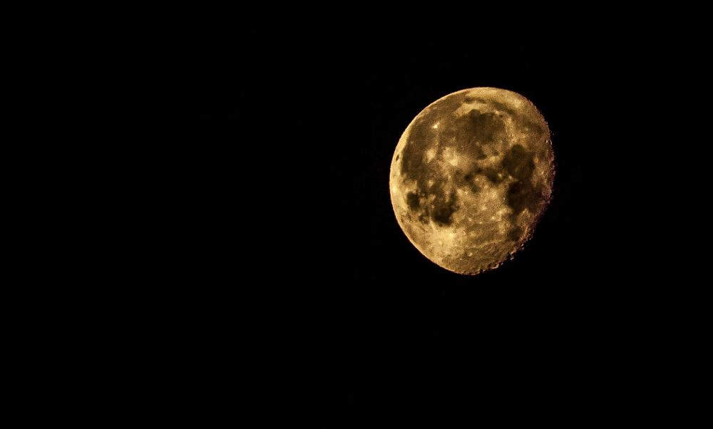 Photo in Astrophotography #moon #morning #night