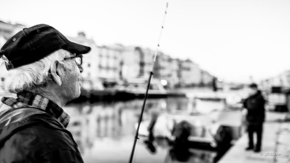 Photo in Black and White #pecher #fish #man #mer #sète #phb