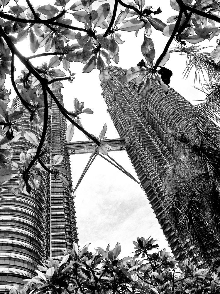 Photo in Random #architecture #black and white #building #kuala lumpur #malaysia