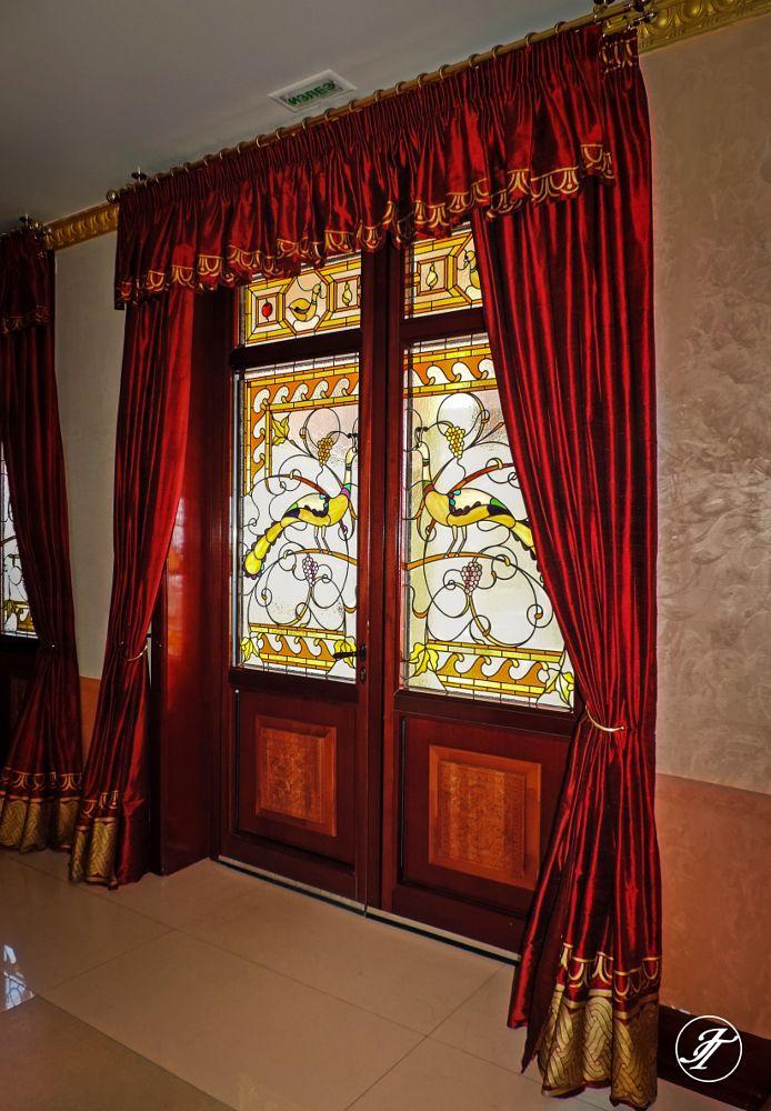 Photo in Random #curtain #door #entrance #theater #stained-glass door