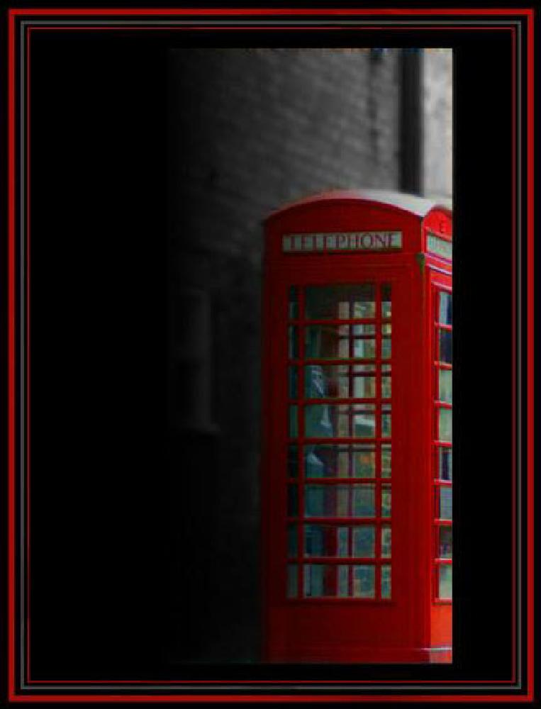 Photo in Abstract #telephone #red #english