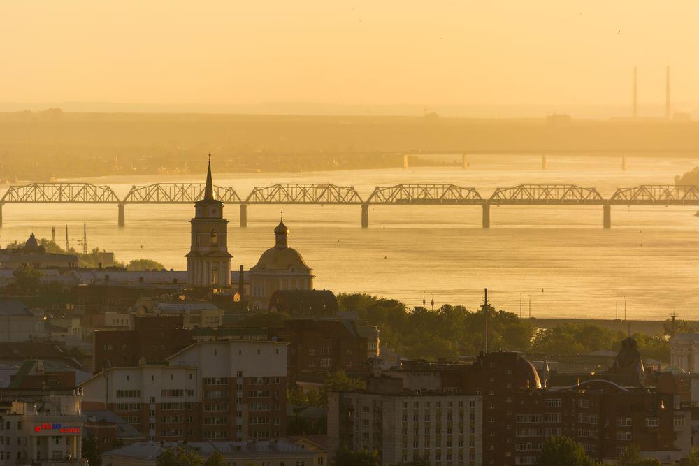 Photo in Cityscape #sun #city #river #cityscape
