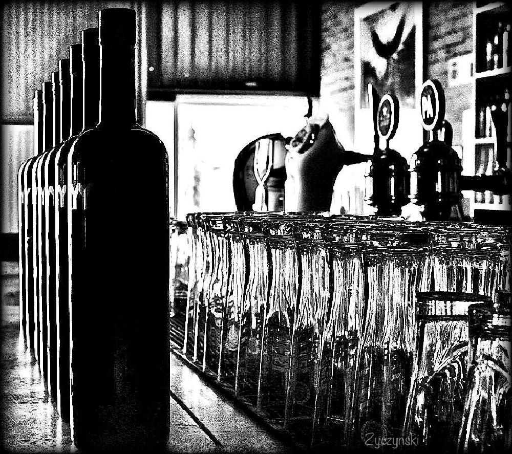 Photo in Still Life #street photography #black and white #cape town #bar