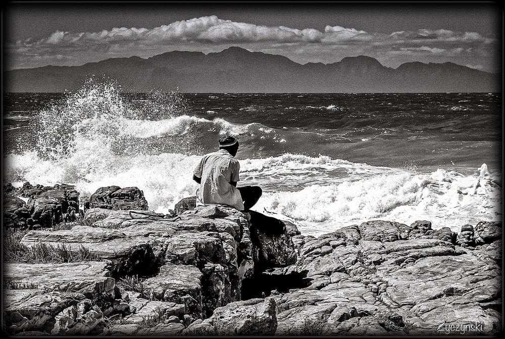 Photo in Street Photography #cape town #danger beach #street photography #black and white