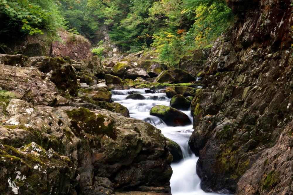 Photo in Nature #betws-y-coed #afon #llugwy #river #stream #water #nature #travel #forest #trees #rocks #autumn #wales #uk #united kingdom #snowdonia #cascade #waterfall #walking #miner #bridge