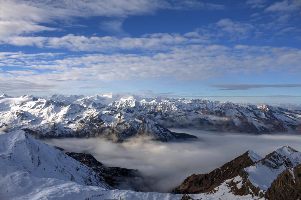 Photo in Landscape #kitzsteinhorn #salzburg #kaprun #austria #mountains #clouds #view #viewpoint #panorama #winter #snow #glacier