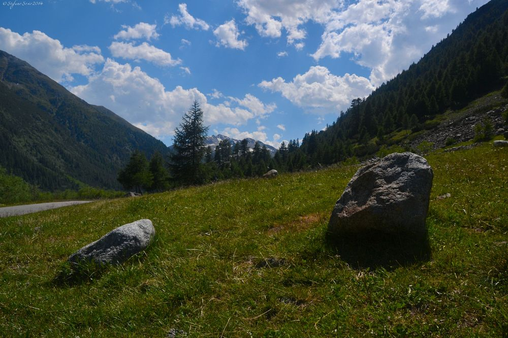 Photo in Travel #rocks #two #slope #livigno #nature #sky #clouds