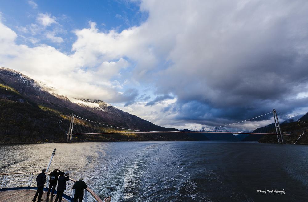 Photo in Landscape #norway #hardangerfjord #hardangerbrua #bridge