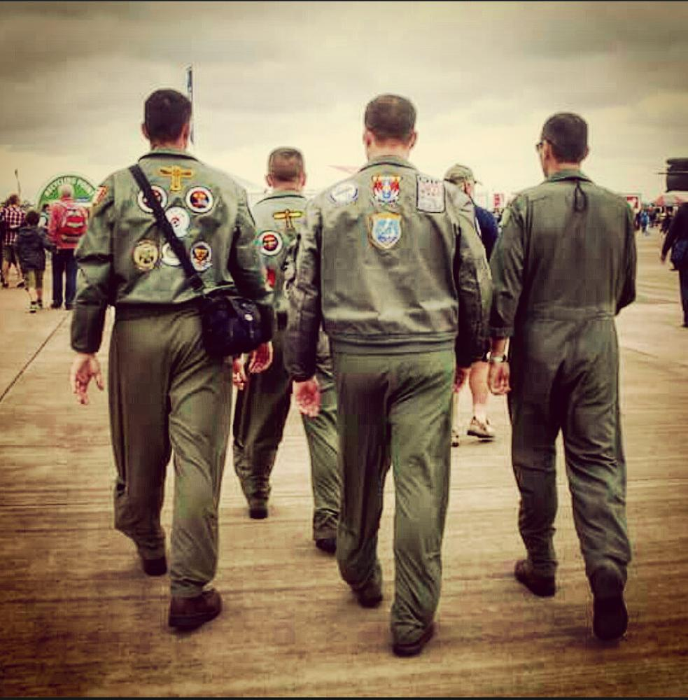 Photo in People #sky #angels #unitedstates #airforce #airshow #gloucestershire #uk #flightsuit #pilot