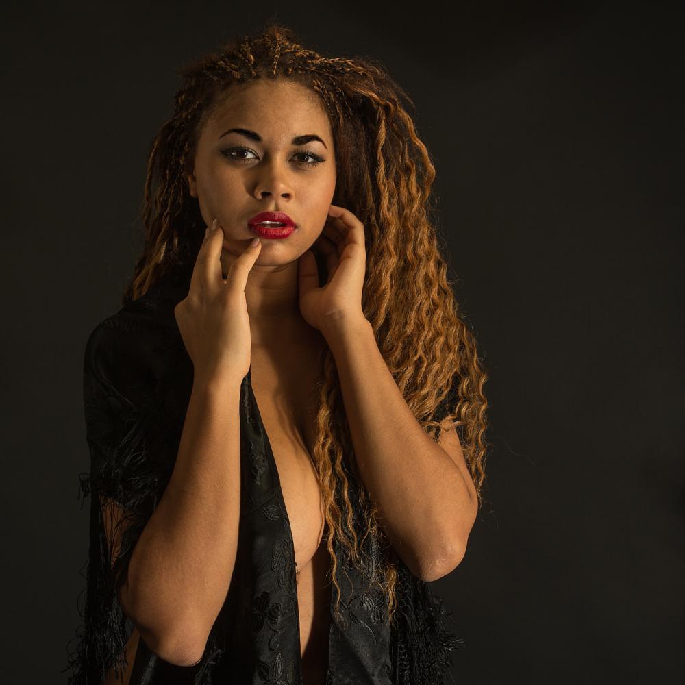 Photo in Fashion #sexy #beautiful #woman #scarf #black #black scarf #studio