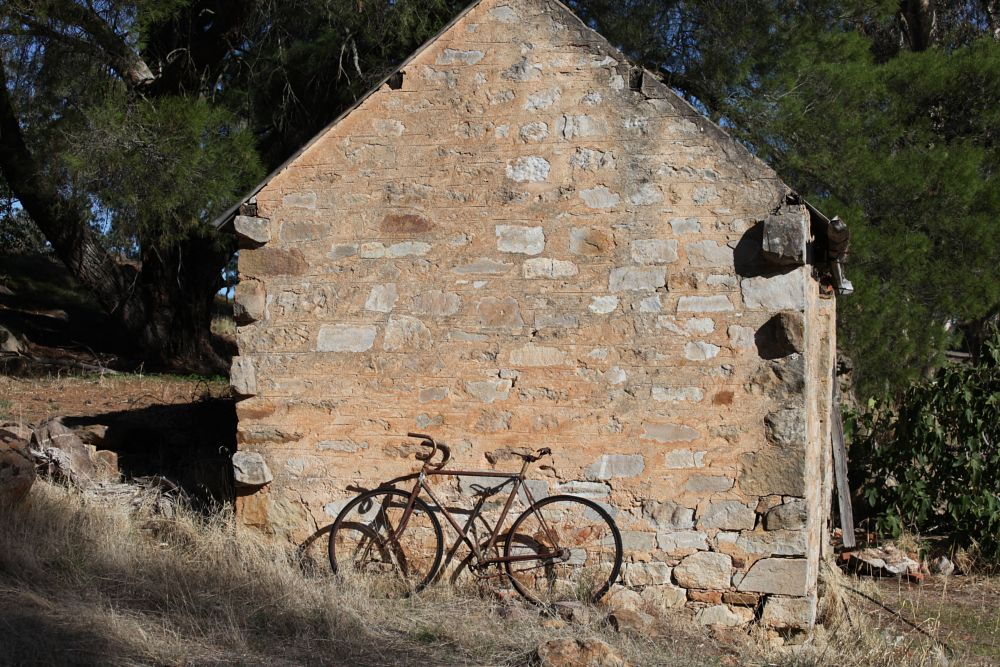 Photo in Rural #bicycle #old building #rural property