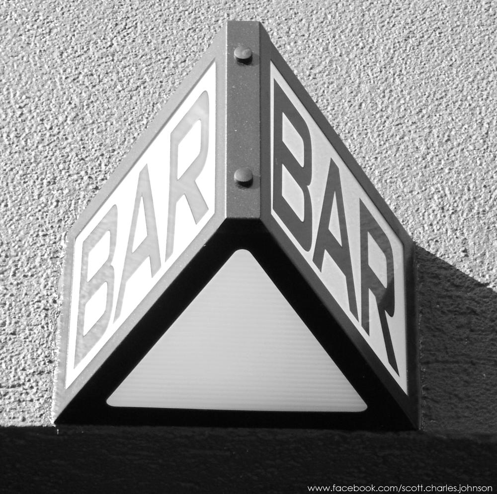 Photo in Street Photography #bar #new york #triangle #black and white