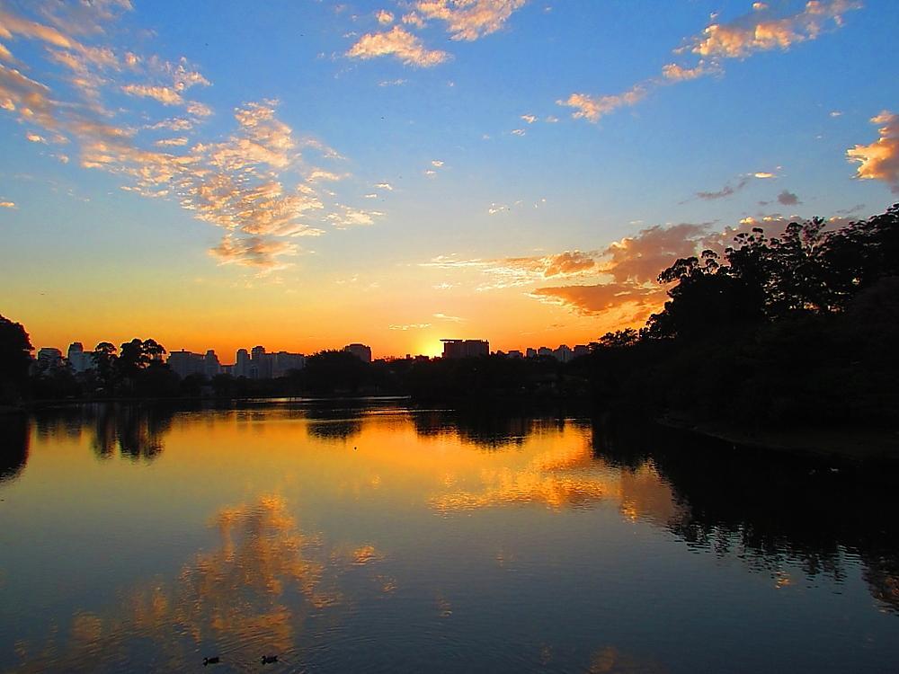 Photo in Urban #parqueibirapuera #sunsetsãopaulo #antonio marin jr #sunset #por do sol