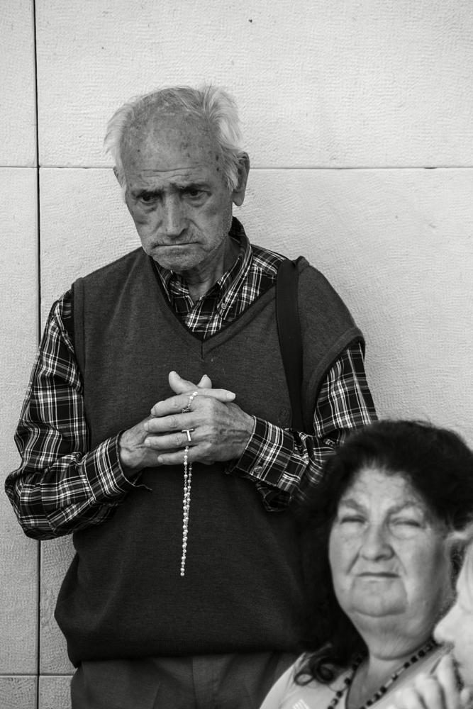 Photo in People #people #faith #sanctuary #fátima #pilgrims #bw #portrait #man #ohrbinah