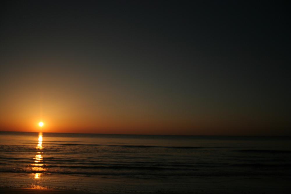 Photo in Landscape #sunrise #ocean #dawn #reflection #sky #dark #orange #waves