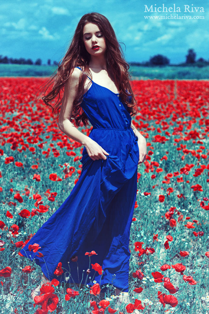 Photo in Fashion #ypa2013 #fashion #editorial #woman #model #modeling #poppy #poppy field #nature #hair #colors #long hair #wild #red #make up #beauty #girl #stunning #red lips #amazing #sky #cloud #landscape #portrait #outdoor #photography #fairy tale #romantic