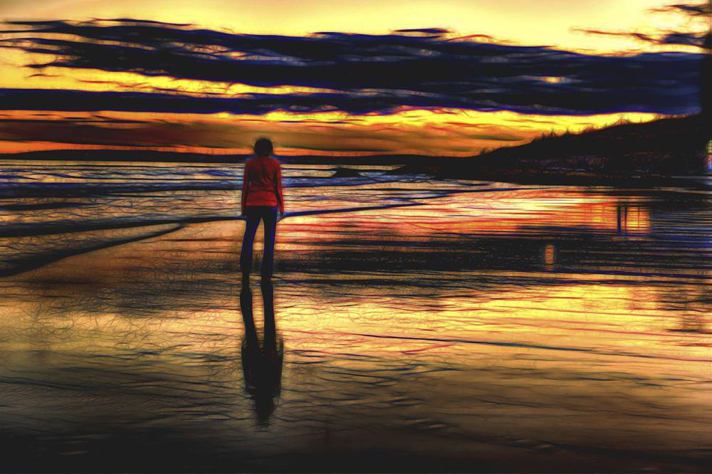 Photo in Landscape #sunrise #maine #beach #atlantic ocean