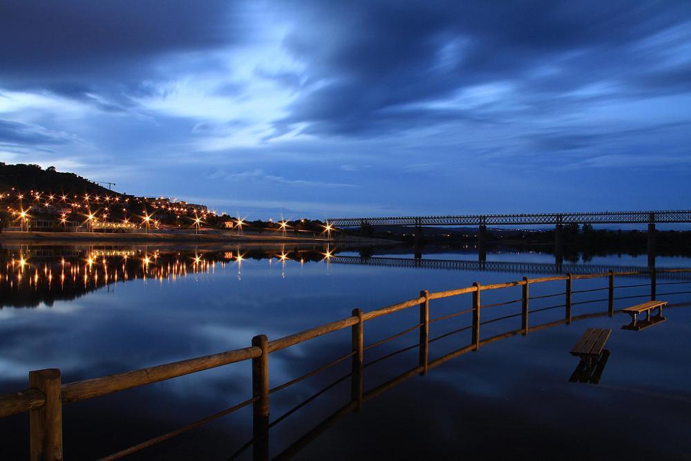 Photo in Landscape #river #night #bridge