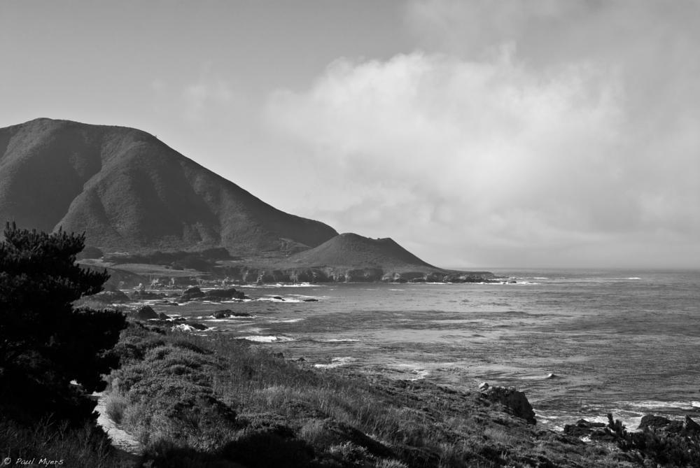 Photo in Landscape #landscape #b&w #ocean #coast