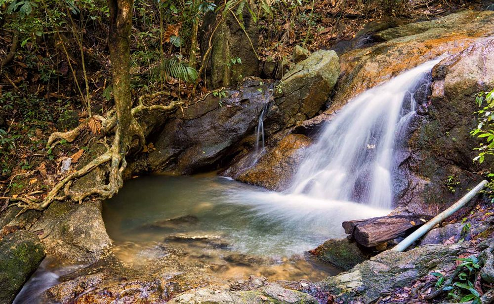 Photo in Landscape #waterfall #natural #landscape #water flow #jungle