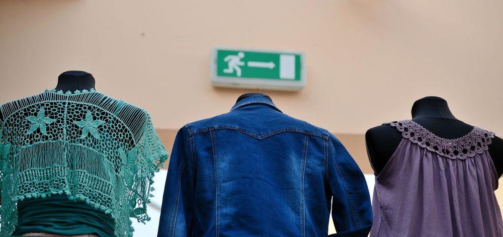 Photo in Random #shop #exit #emergency #emergency exit #manikin #safety #inside #humorous