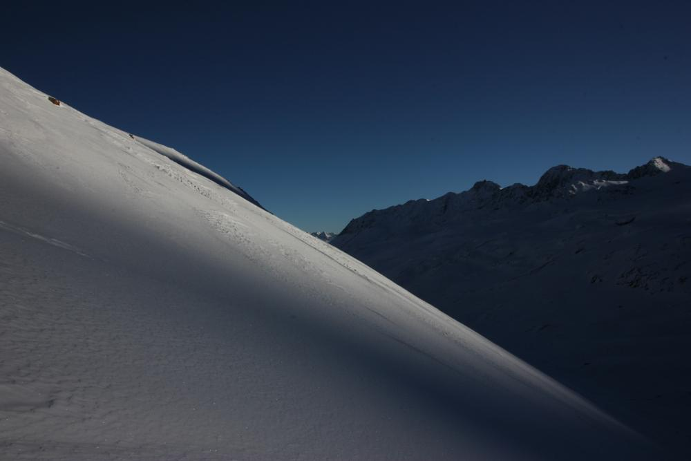 Photo in Landscape #snow #mountains #senales #shadow #sky #blue