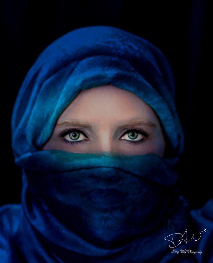 Photo in Portrait #lyinn #niqab #scarf #headscarf #eyes