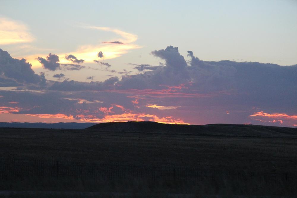 Photo in Landscape #sunset #mountain #prairie