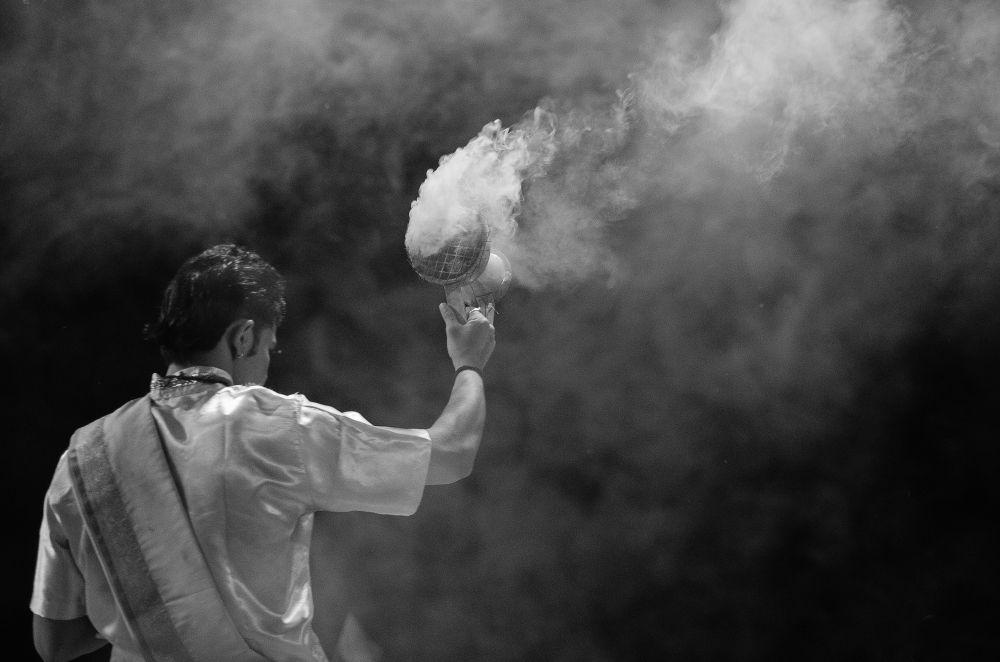 Photo in Random #ypa2013 #work #divine #varanasi #blackandwhite #bw #monochrome #smoke #india
