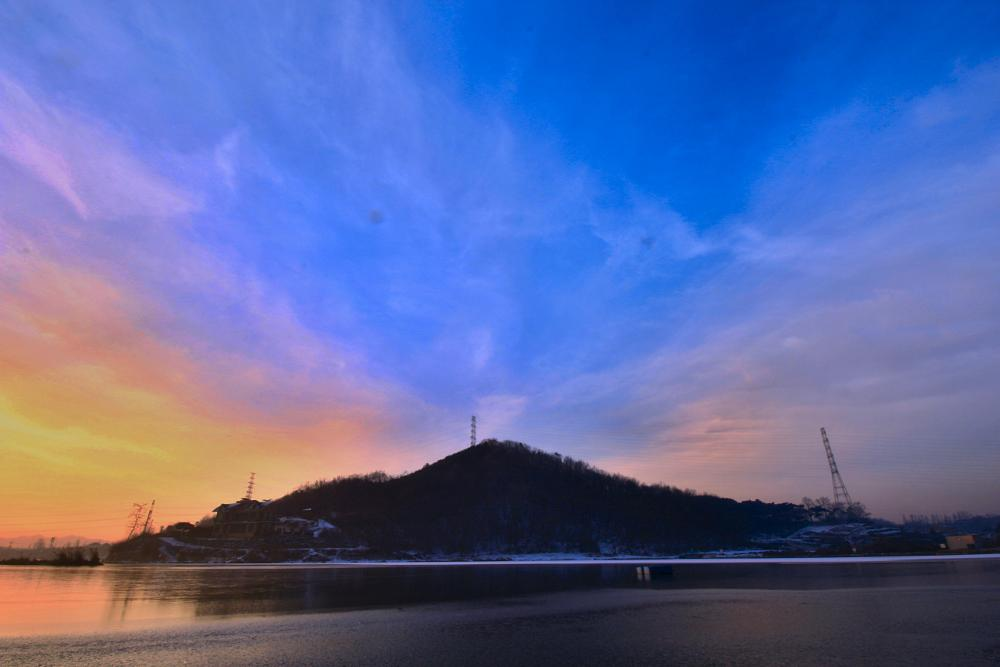 Photo in Landscape #lake #hill #sky
