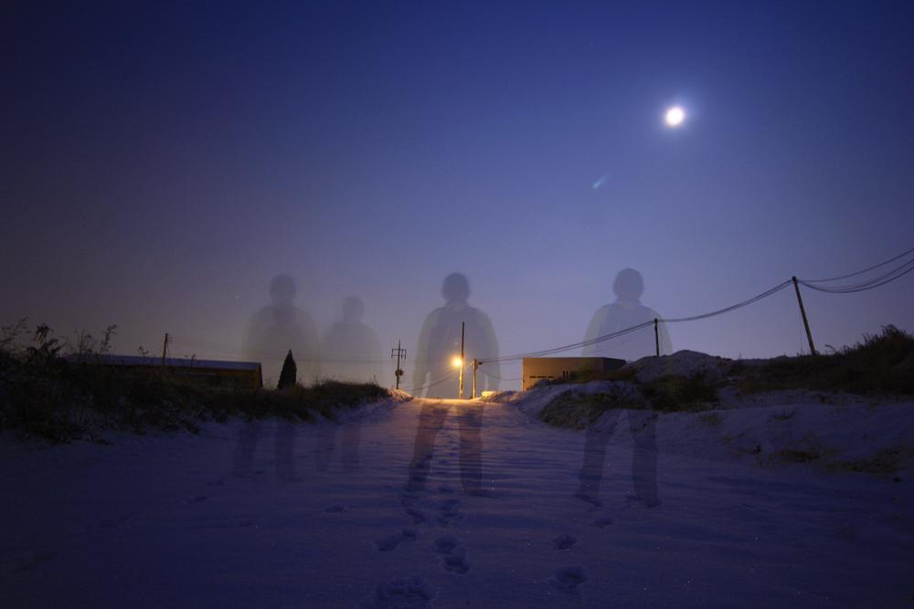 Photo in Fine Art #snow #moon #light