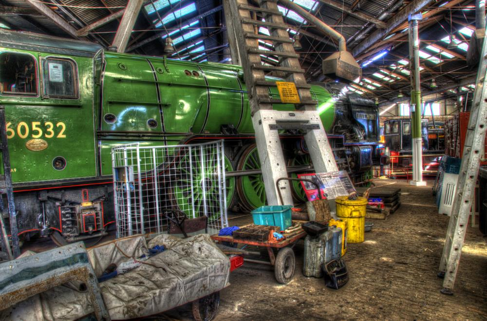 Photo in HDRI #trains steam roundhouse