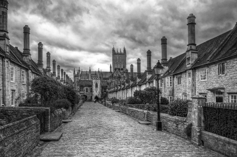 Photo in Black and White #wells #black and white #street #contrastcontest