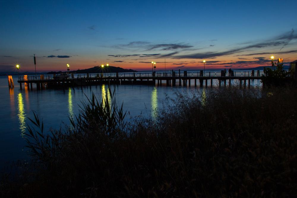Photo in Landscape #sunset #trasimeno #lake #landscape #umbria