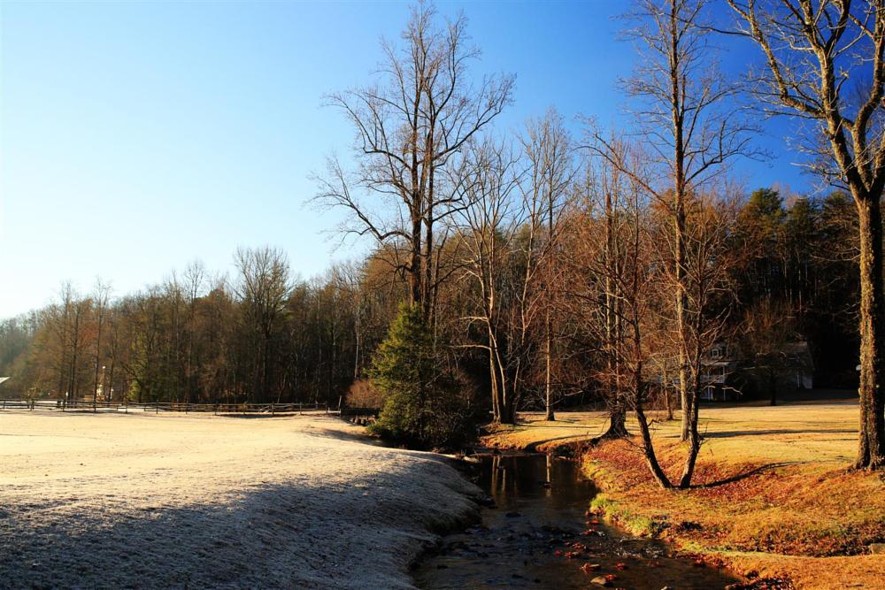 Photo in Landscape #golf course #frosted golf course #cold creek